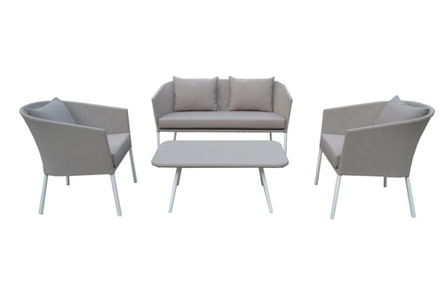 Italy market outdoor furniture simple&cheap sling sofa chair set