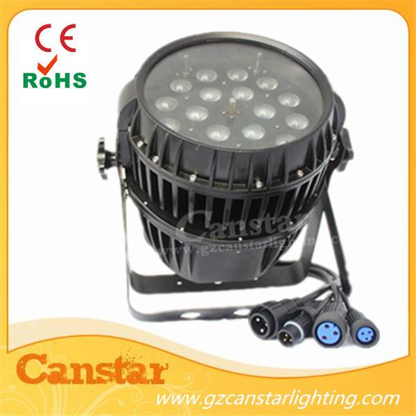 outdoor led zoom par light 18x18w RGBWA+UV 6 in 1