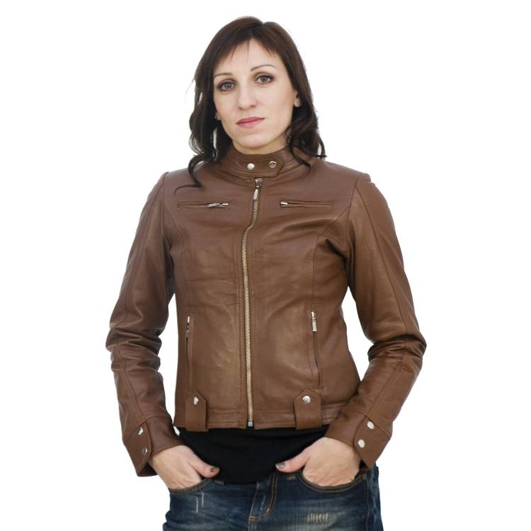 Women Leather Fashion Jacket Slim Fit