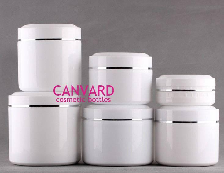 Empty plastic jar, cream cosmetic jar, face cream jar, face wash jar