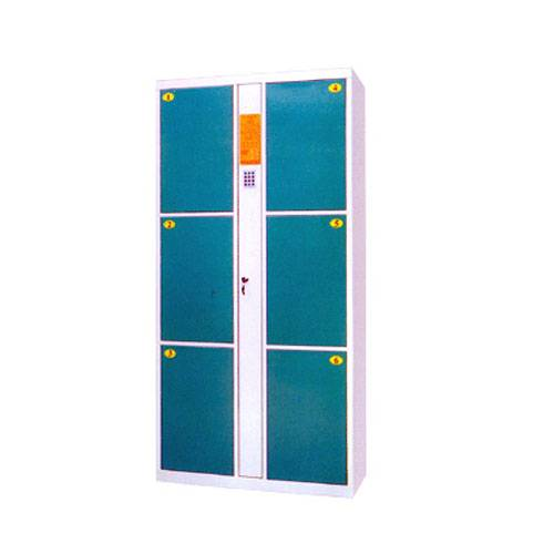 Steel six door school bag locker cabinet