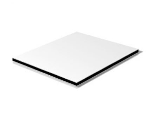 gloss white aluminum composite sheet, PE coating 4mm aluminum thickness 5.85m length