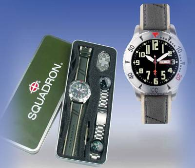 Military style cool sporty watch set