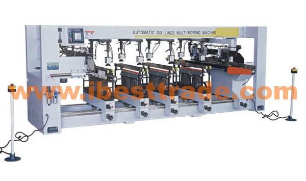 B32130 AUTOMATIC SIX LINES MULTI-BORING MACHINE