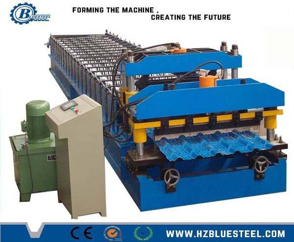 step tile roofing sheet roll former/ glazed steel roof sheet roll forming machine
