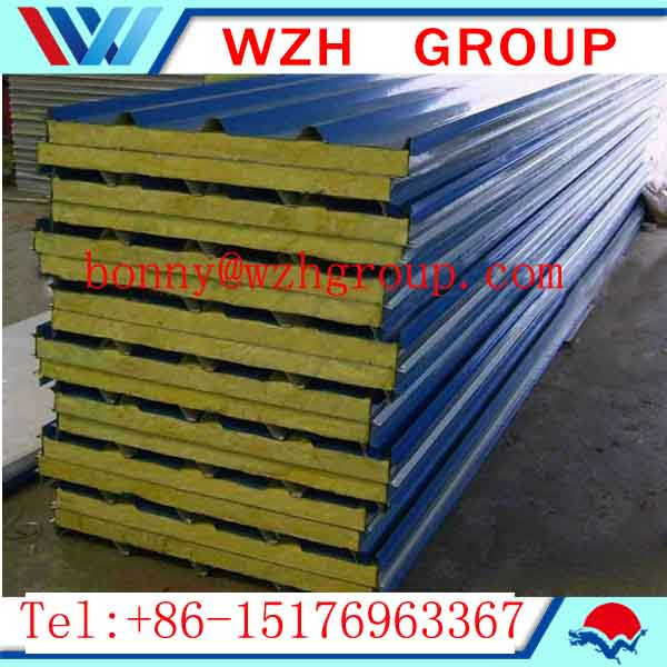 high quality rockwool sandwich pane and thermal insulation panel