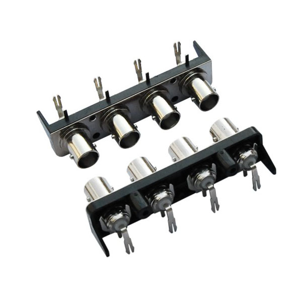 multi straight or R/A BNC female in one row plastic housing