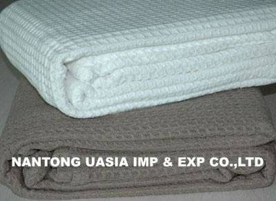 100% cotton Waffle Cellular Blanket