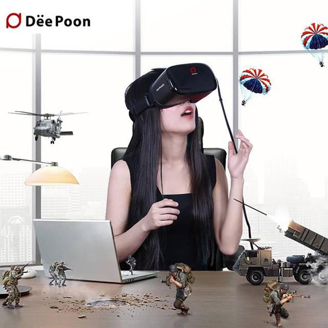 DeePoon E2 3D Virtual Reality Glasses Display 3D VR Glasses Video 1080P AMOLED Screen 2BG/8GB 75HZ A
