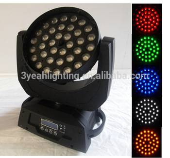 36X10 LED Moving Head Wash Zoom RGBW LED Wall Wash Light