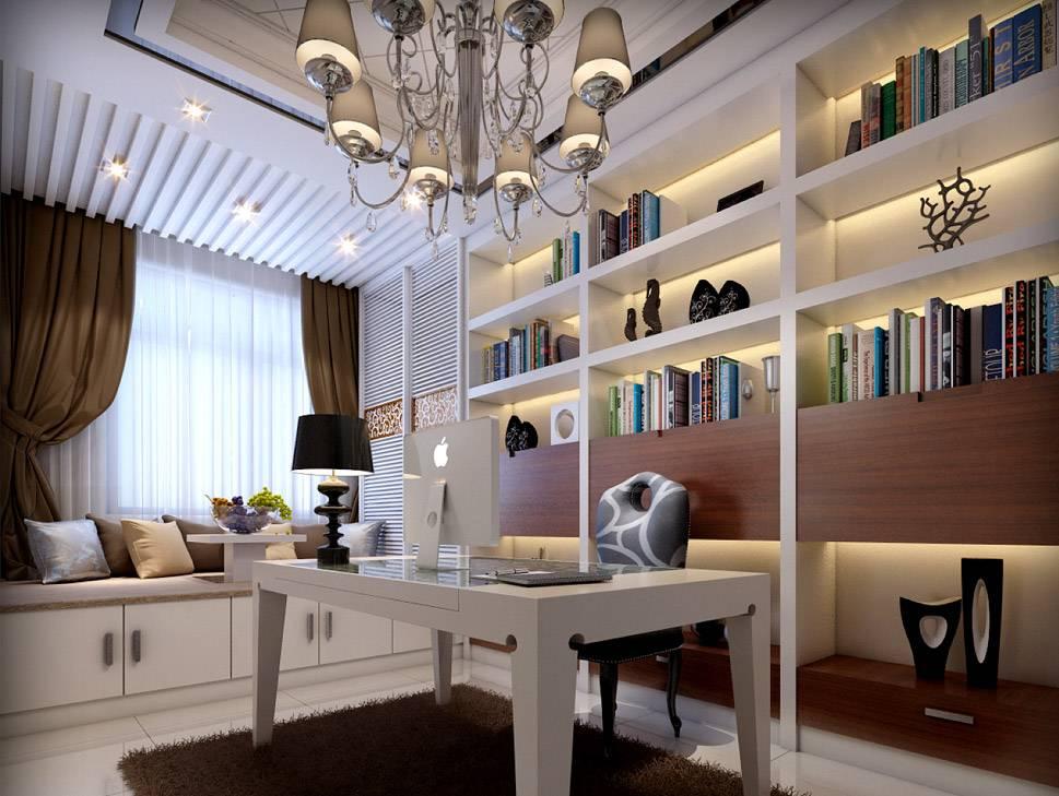3D Interior Renderings--Study Room