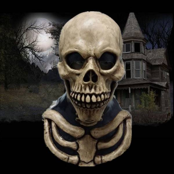 X-MERRY Skull Mask Scary Latex Mask Skull Head Halloween Mask