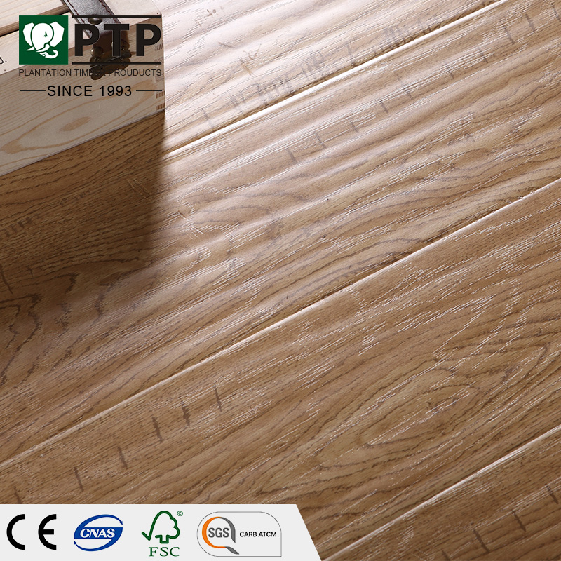 FCS Brazilian Teak Ac3 Non Slip Handscraped grey traditional living laminate wood flooring EN 13329