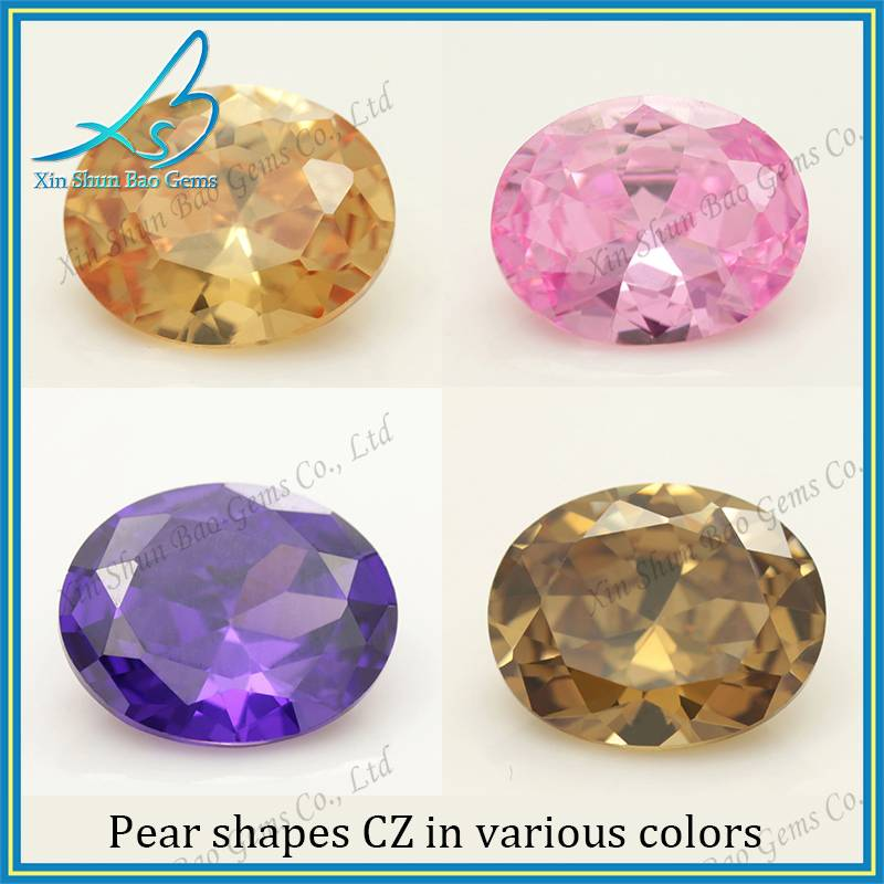 3*5mm-15*20mm Loose oval shape stone colored zirconia
