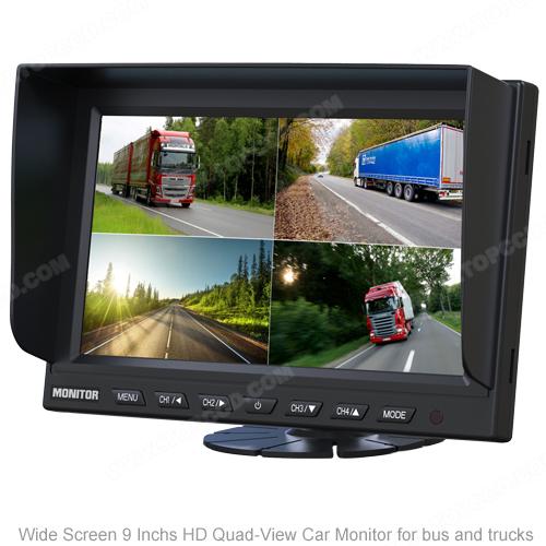 9inch AHD Quad Digital LCD Panel TFT Color Monitor (TOP-AHD009LQ)