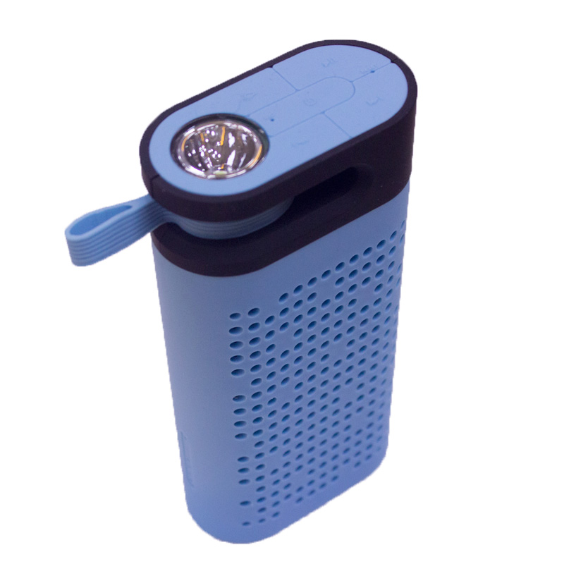 portable wireless led light lamp bluetooth speaker battery charger with FM Radio flashlight 4400mah