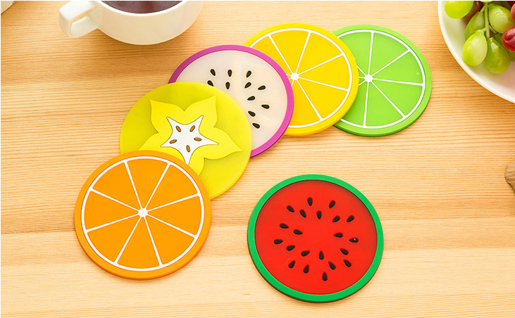Hot selling round shape soft PVC cup coaster