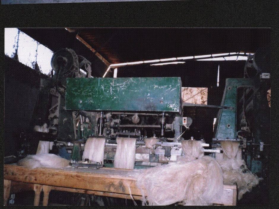 Hackled flax fiber