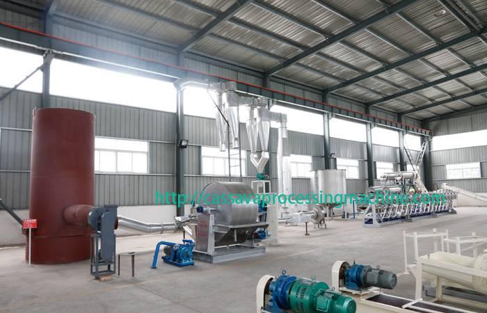 Tapioca starch processing plant