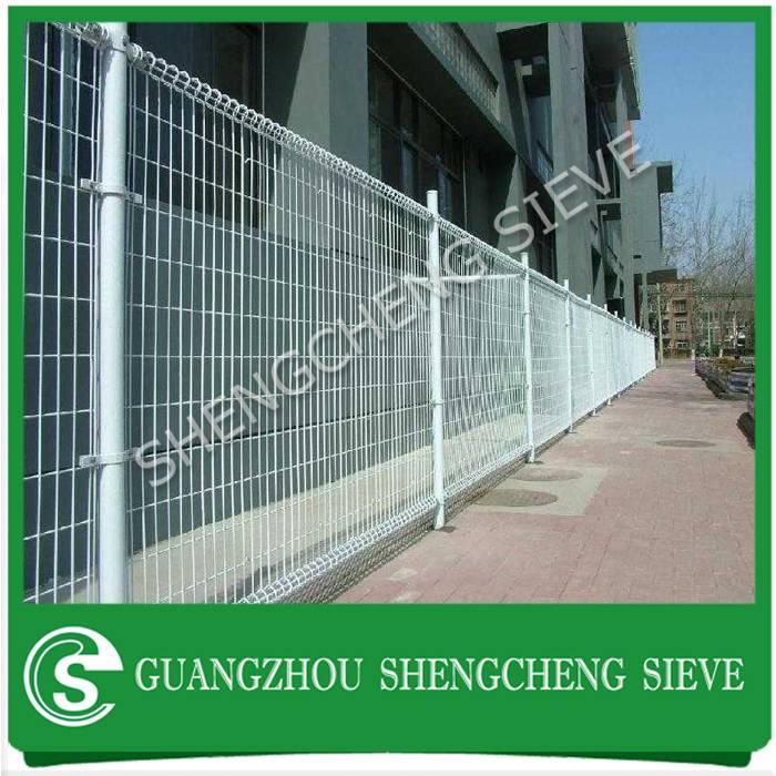 Rigidity welded wire mesh galvanized steel ornamental double loop wire fence