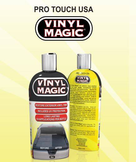 Vinyl Magic Black Plastic Restorer 8 oz.