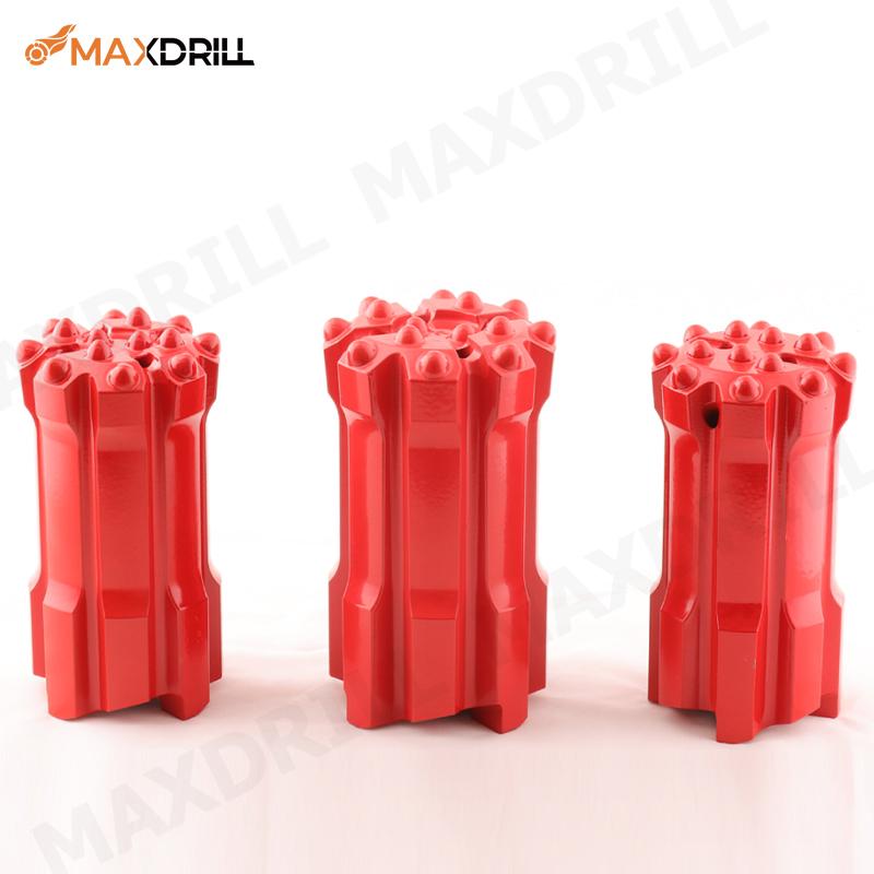 MAXDRILL 102mm T45 Retrac Drop Centre Ballistic Button Bit