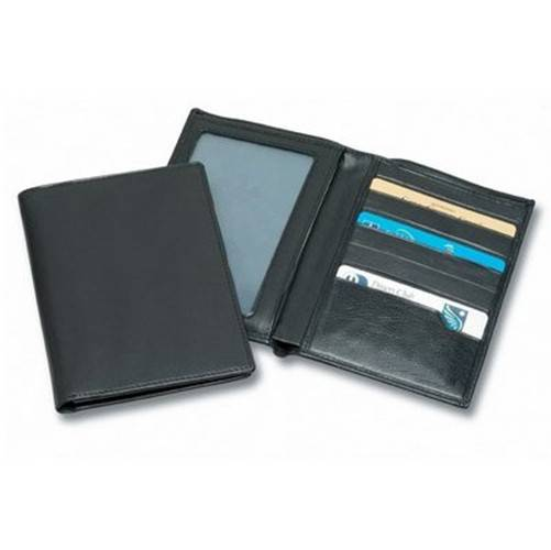 Black A4 Paper File Agenda Folder with Card Pockects