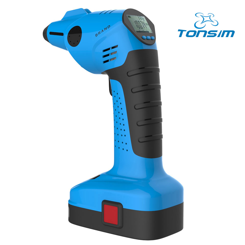Tonsim air compressor 12v 7500mah Battery Electric Car Air Compressor Digital Tire Inflator