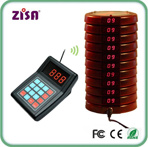 Hot sale wireless digital number coaster pager system , guest call paging system