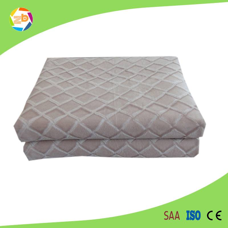 Pure100%polyester white electric underblanket
