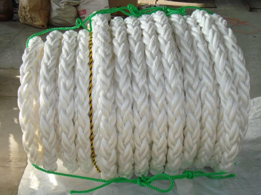 8 strand polypropylene mooring rope 40-160mm