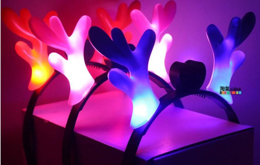 christmas toy LED head band antle christmas decor led luminous christmas