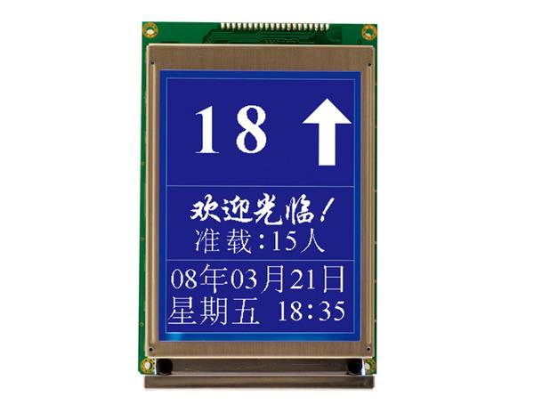 Serial high resolution LCD indicator board SM-04-UL
