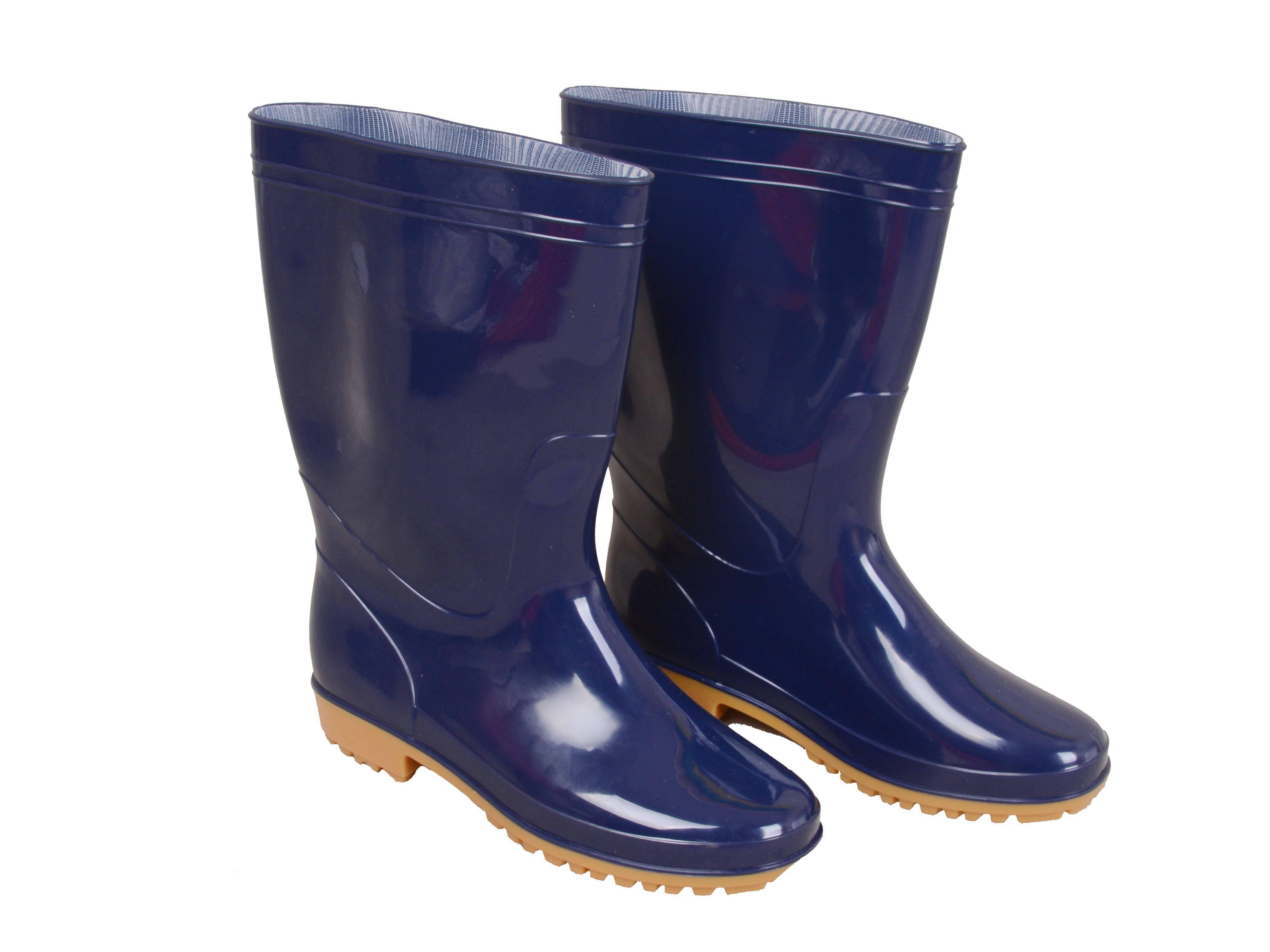 WRB-1001 BLUE PVC VINYL MEN BEST RAIN BOOTS
