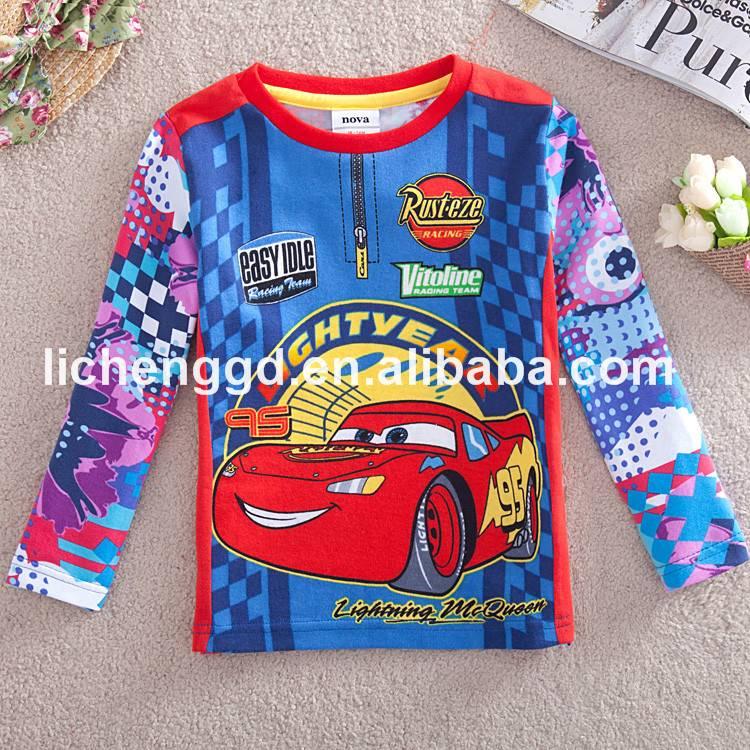 Fashion cartoon printed car t-shirt for girls t-shirt 100% cotton hot sale cloth from Nova Kids Fact