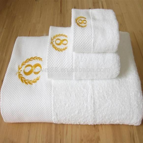 100% cotton embroidery hotel bath towel