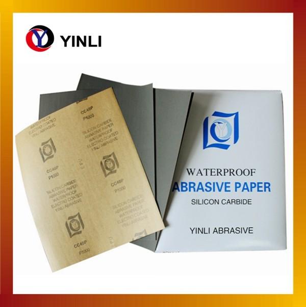 Finished hardware YINLI brand abrasive waterproof sandpaper 9''11''