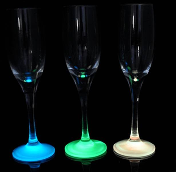 new design night light glass goblet