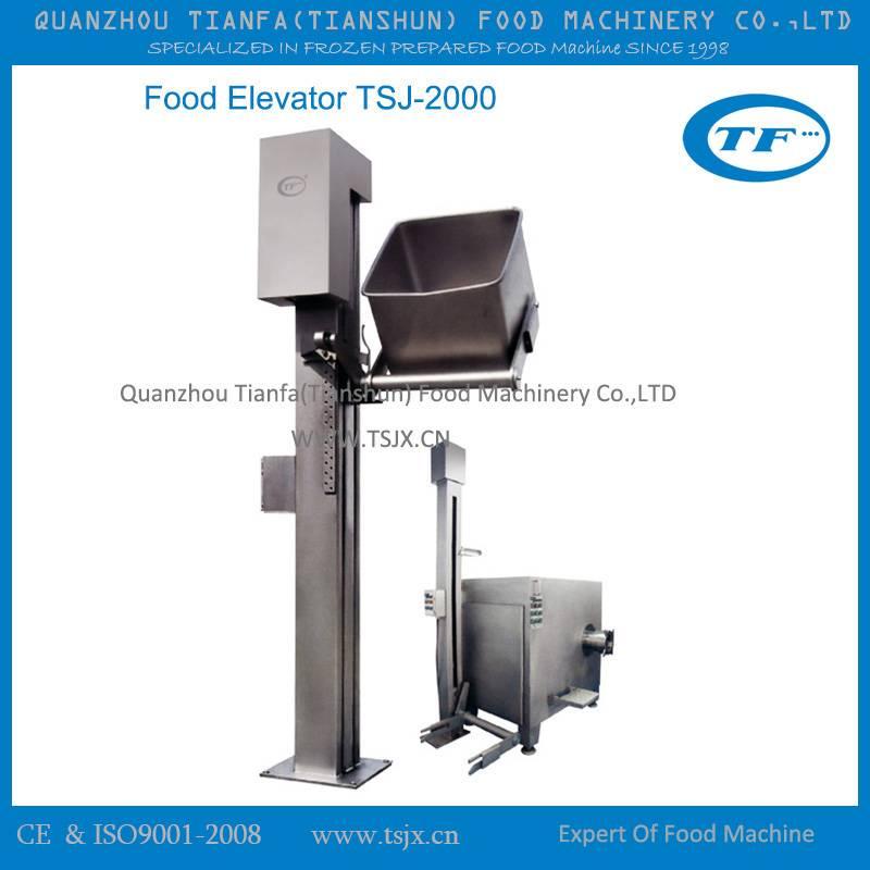 stainless steel food processing food elevator