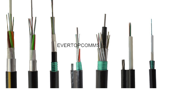 FTTH 2-216 core outdoor fiber optic cable of black jacket GYXTW