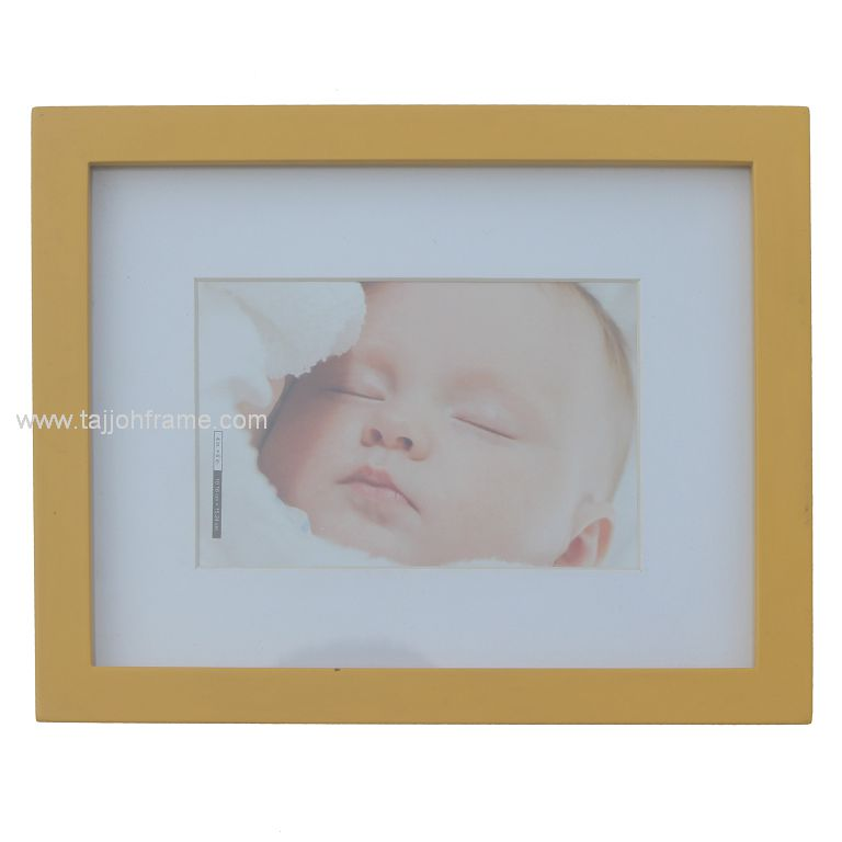 Flat-Face Simple Wooden Photo Frame, Hand Paint