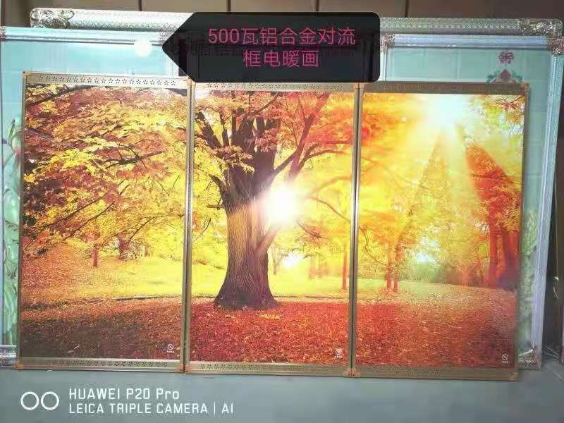 Wall mounted carbon crystal far infrared electric heater