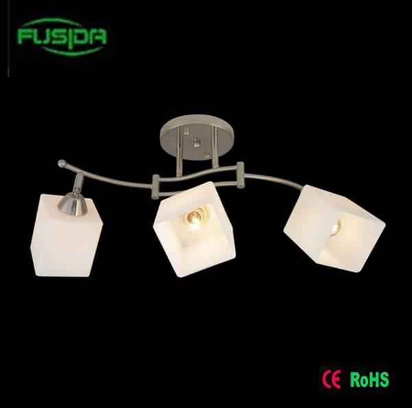 White square glass chandelier hotel chandelier light