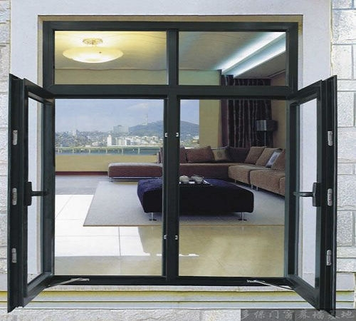 Powder coated aluminium casement window with standard size