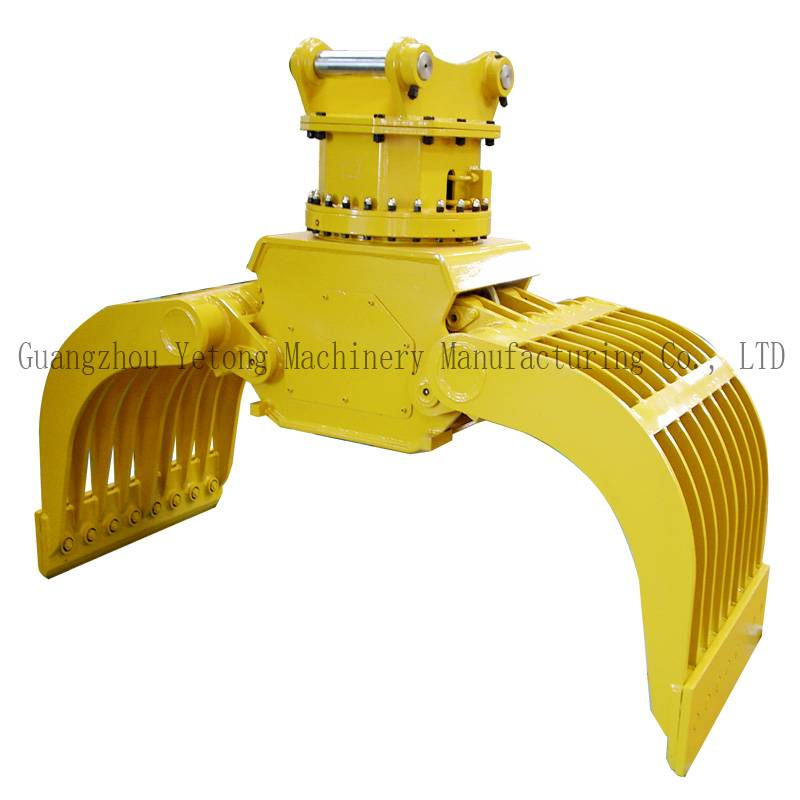 Industrial Excavator Rotating Grapple Hydraulic Grab for Stone / Metal / Wood