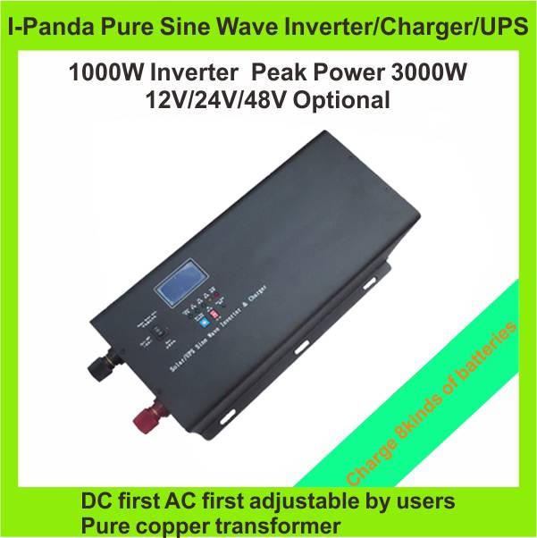 1000W~6000W optional pure sine wave inverter with battery charge and UPS CE and ROHS approved