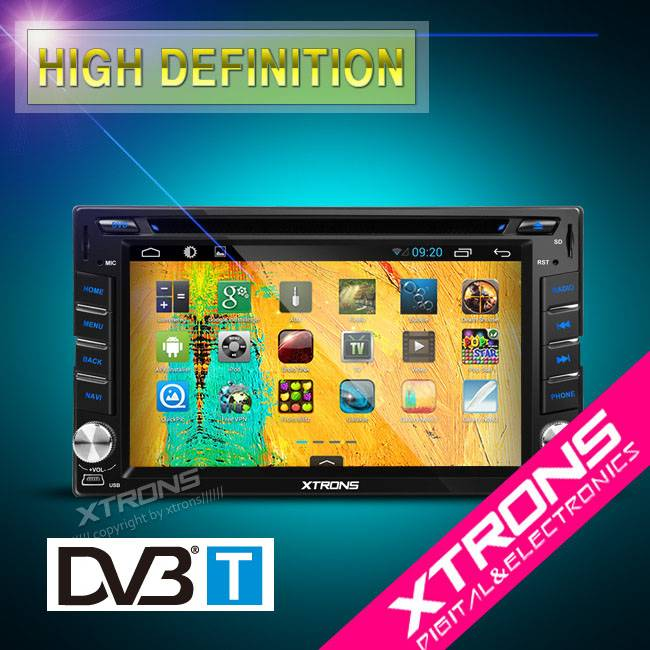 "TD613AD--6.2""Android 4.2.2 Multi-Touch Screen WIFI Double Din Car DVD Player with Built-in DVB-T"