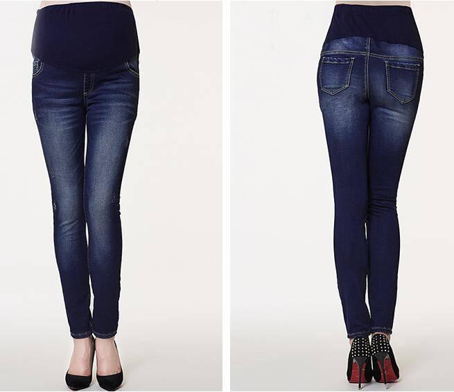 High Elastic Waist  Fleece Lined Jeans