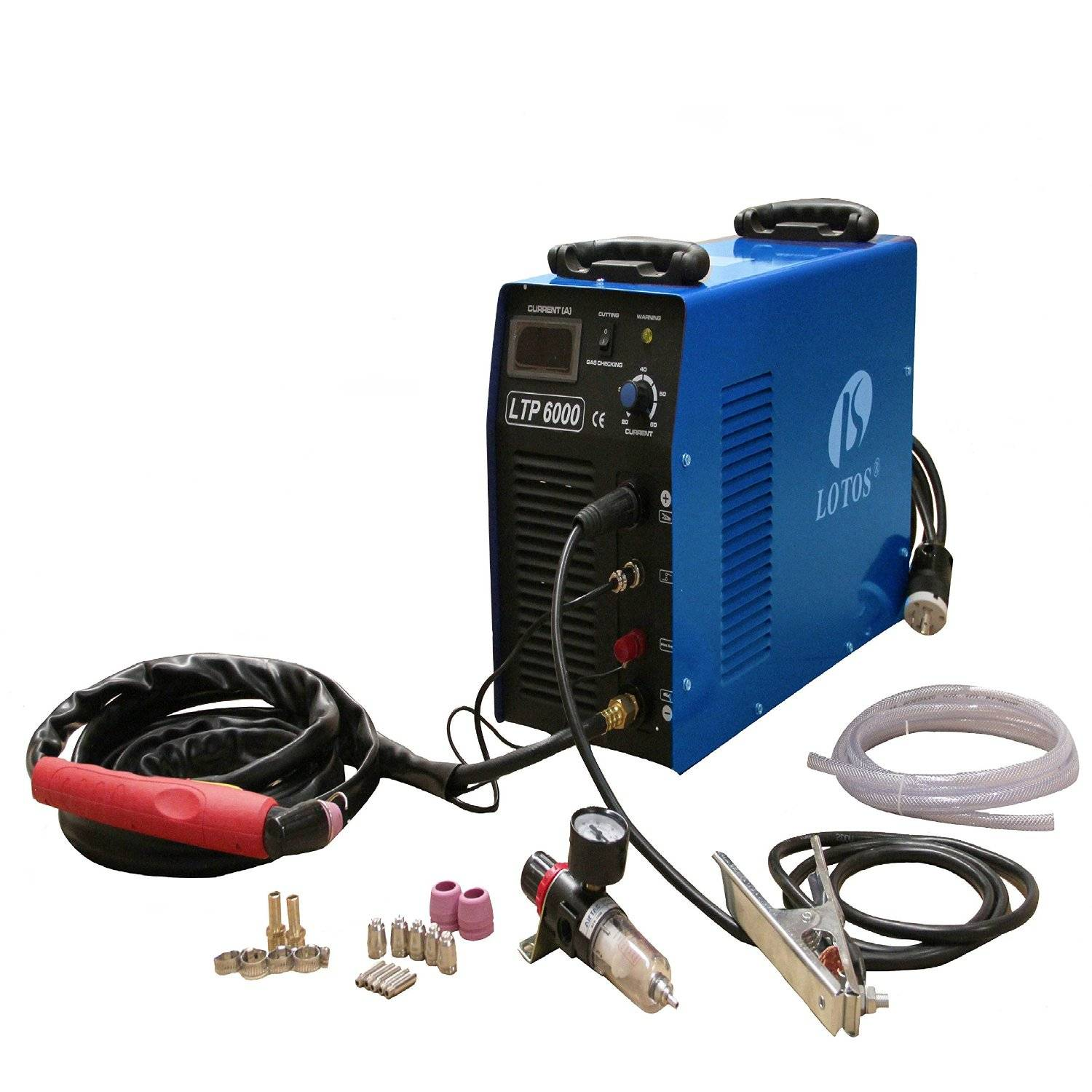 Lotos Technology LTP6000 60 Amp Pilot Arc Plasma Cutter, Blue
