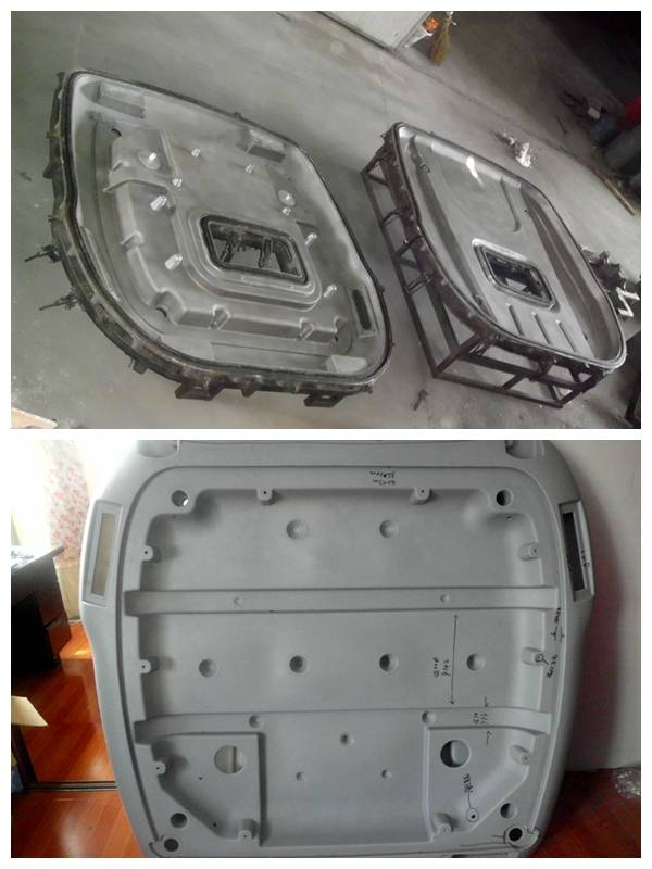 Tractor Roof Rotational Mold, Rotomolding Vehicle Ceiling Mold, Platfond Roto Mold
